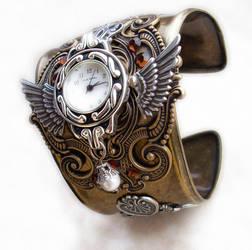 Steampunk Cuff Watch by Aranwen