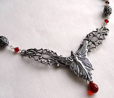 Red Fairy Necklace by Aranwen