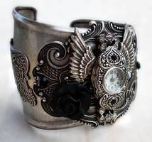 Steampunk - Gothic Cuff Watch1 by Aranwen