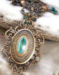 Emerald Dragon Golden Amulet