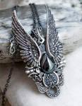 Dark Angel Pendant -Hematite