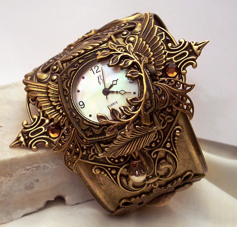 Steampunk Watch Floral V2