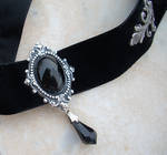 Black Velvet Choker - Onyx New