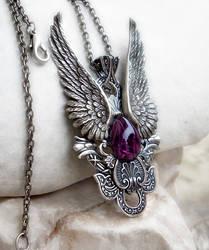 Dark Angel Pendant -Purple by Aranwen