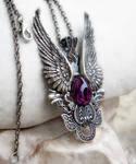 Dark Angel Pendant -Purple