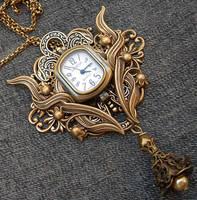 Floral Watch Brooch-Pendant 1 by Aranwen