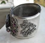 Silver Winged Cuff Watch -1