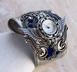 Steampunk Cuff Watch -Silver
