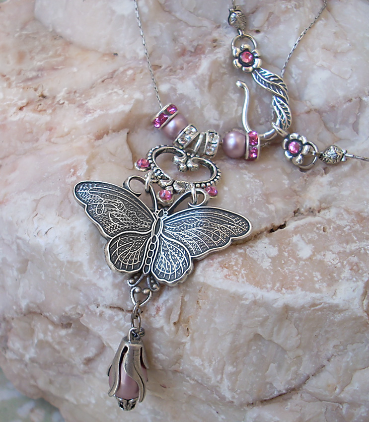 Pink Crystal Necklace 2 by Aranwen