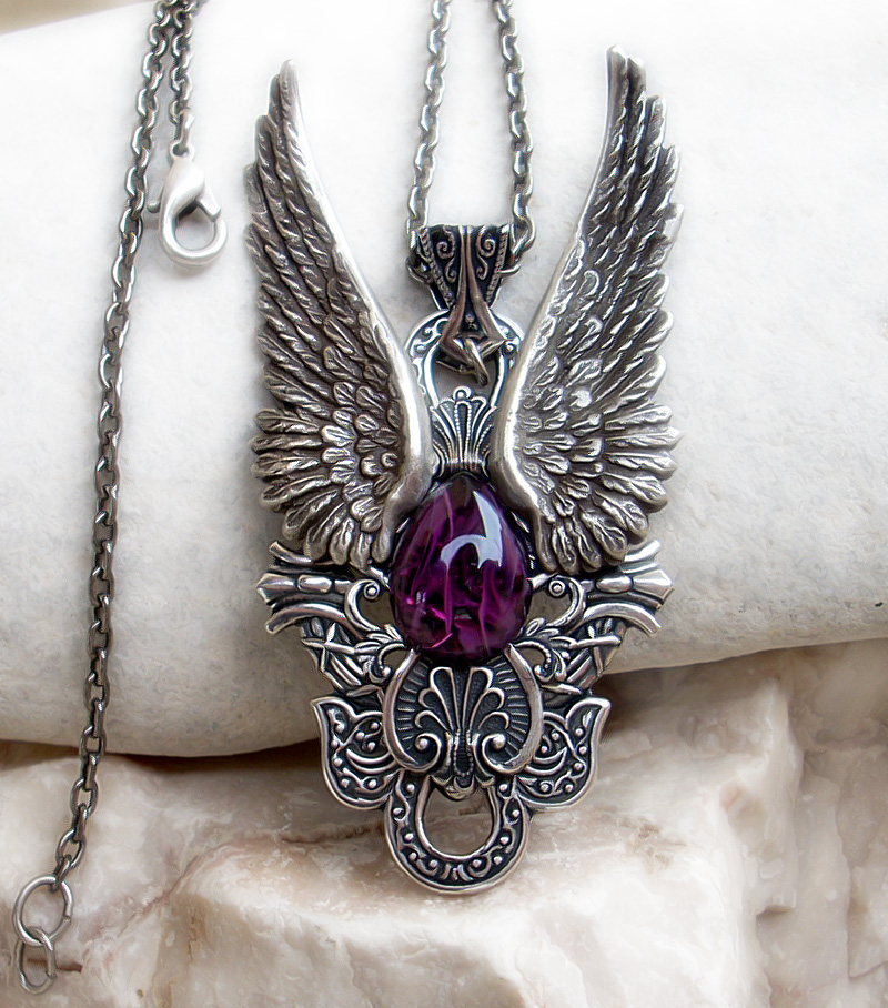 Dark Angel Pendant -Purple1 by Aranwen