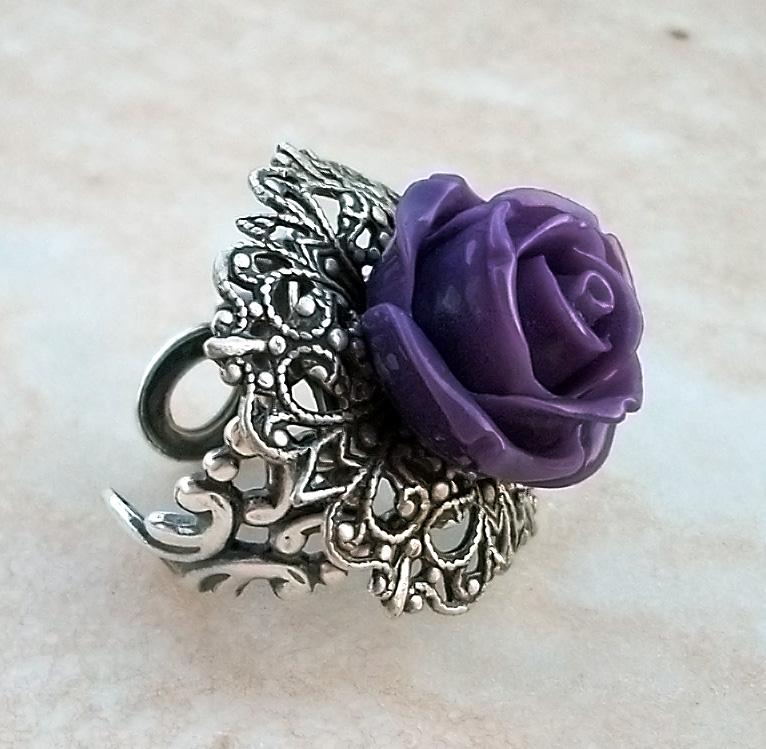 Purple Rose Ring 1 by Aranwen