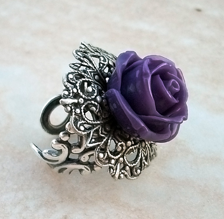 Purple Rose Ring 1 by Aranwen on DeviantArt  One