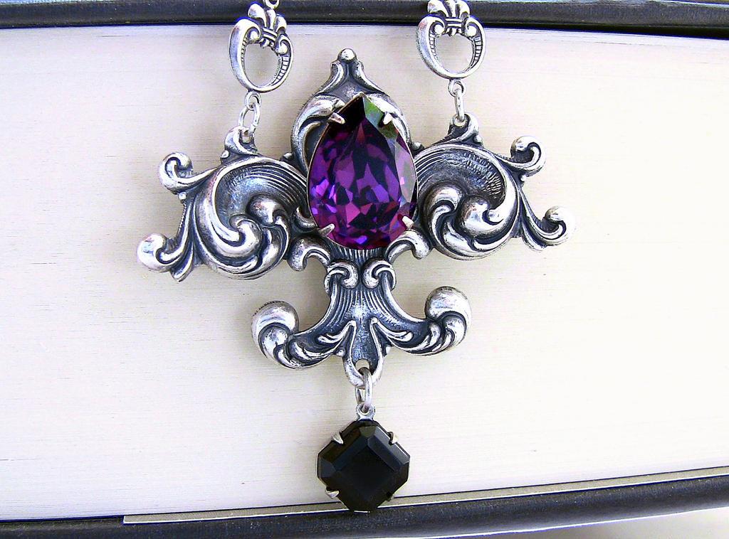Amethyst Crystal Necklace 2 by Aranwen