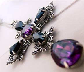 Gothic Crystal Cross 1 by Aranwen