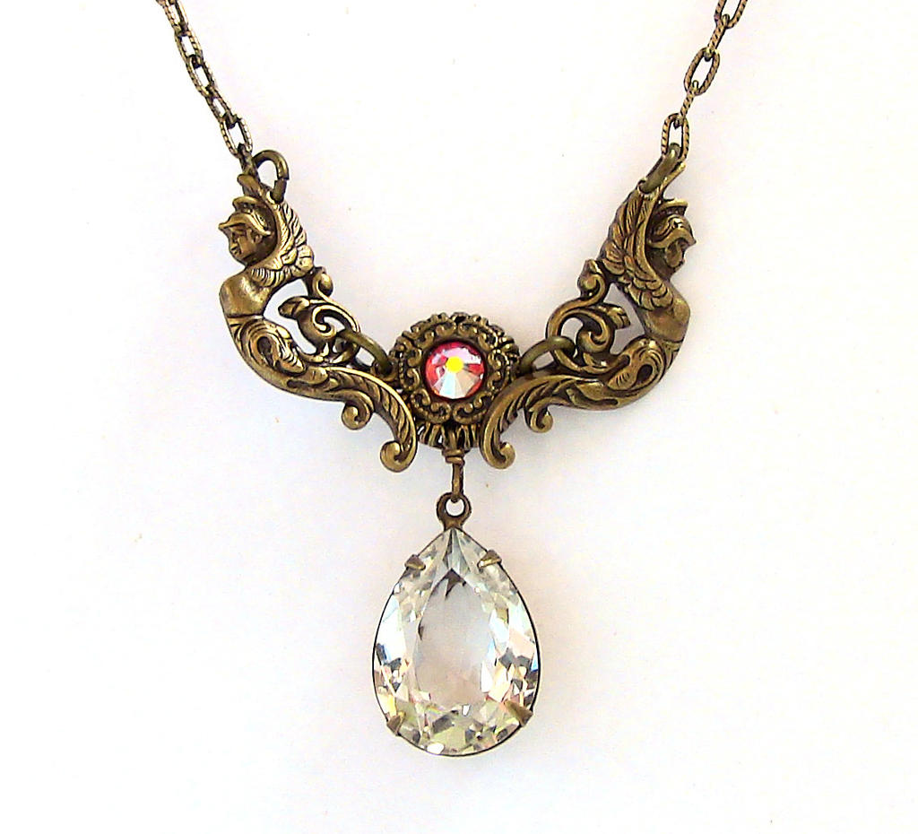 Vintage Brass Necklace by Aranwen