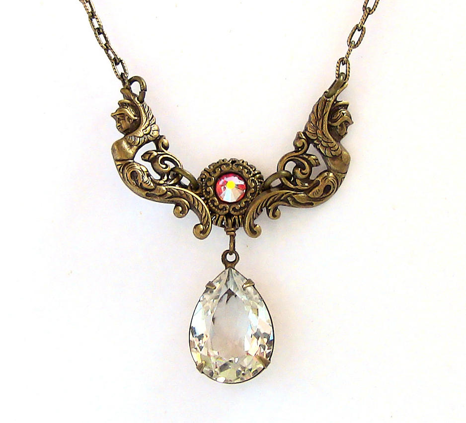 Vintage Brass Necklace by Aranwen