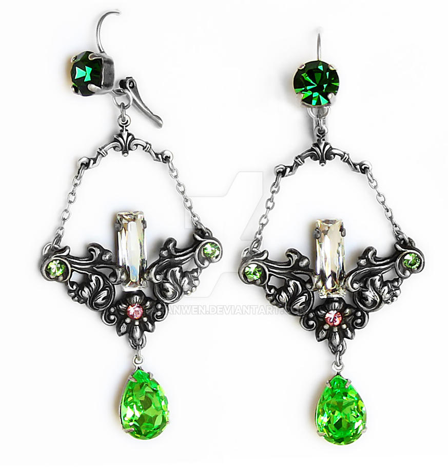 Victorian Chandelier Earrings 1 by Aranwen