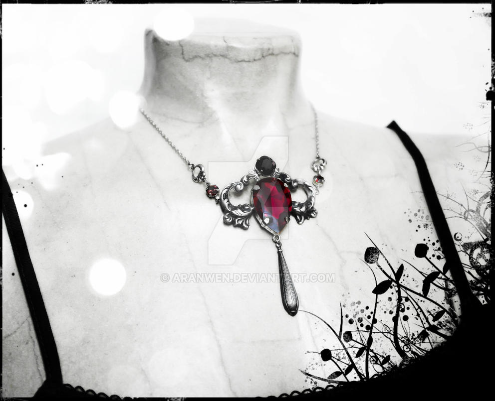 Ruby Red Swarovski Necklace 1 by Aranwen