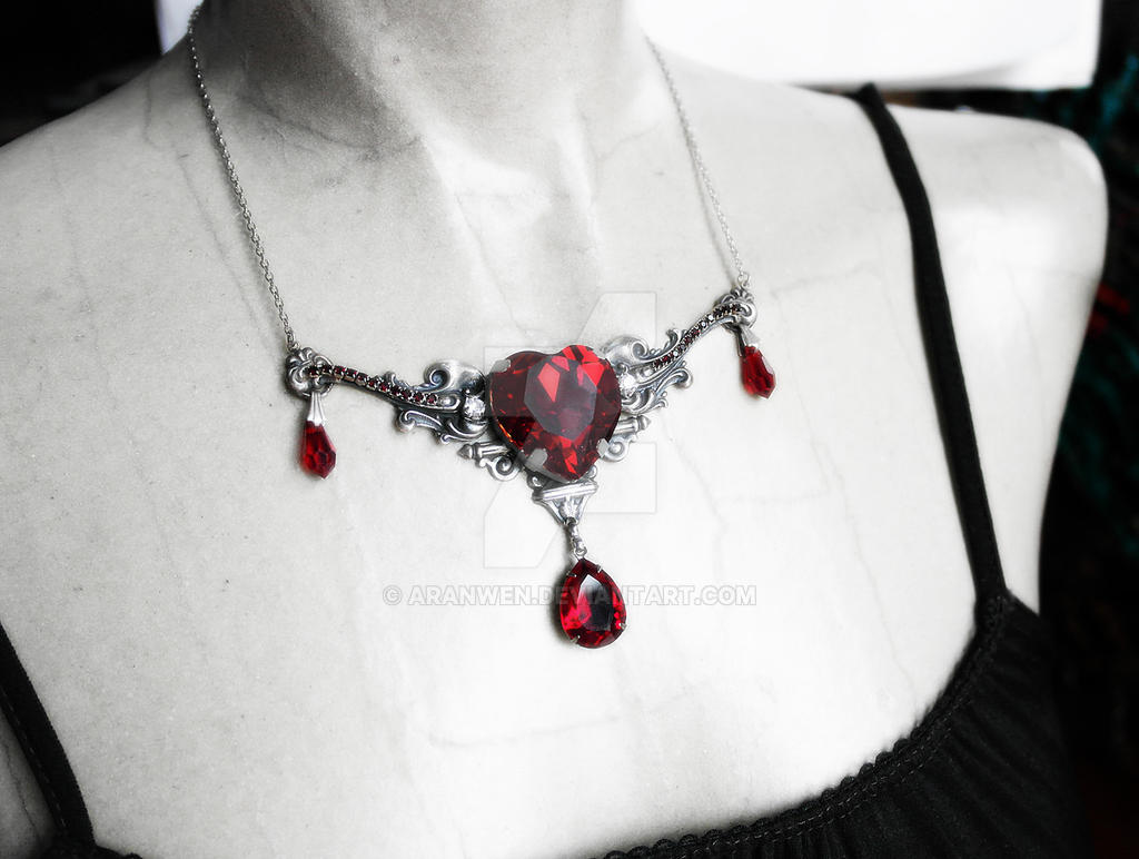 Red Heart Necklace by Aranwen