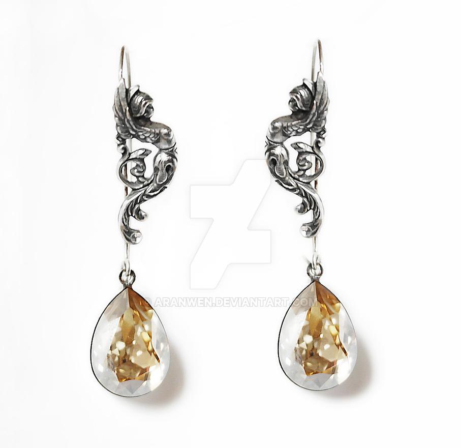 Swarovski Goddess Earrings by Aranwen