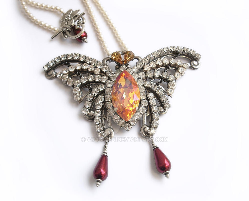 Swarovski Butterfly Necklace by Aranwen