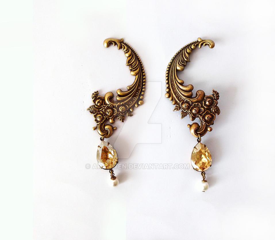 Ear Climber Earrings by Aranwen