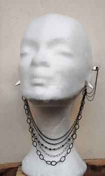 Gothic Necklace style Earrings