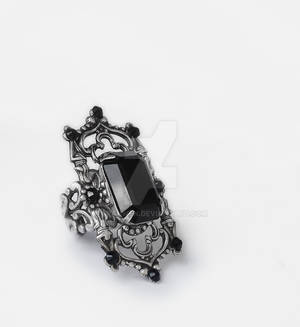 Gothic Cathedral Ring in Black