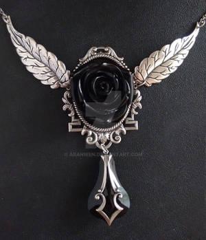 Black Rose Gothic Necklace
