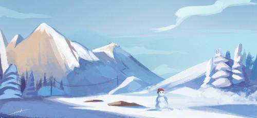 Winter background by NOOR-SALEH