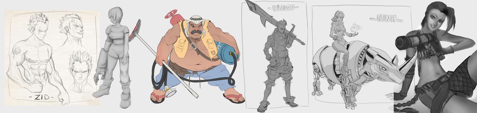 Random sketches by NOOR-SALEH