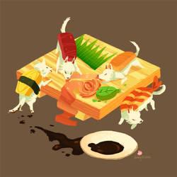 sushi dogs by hyamei