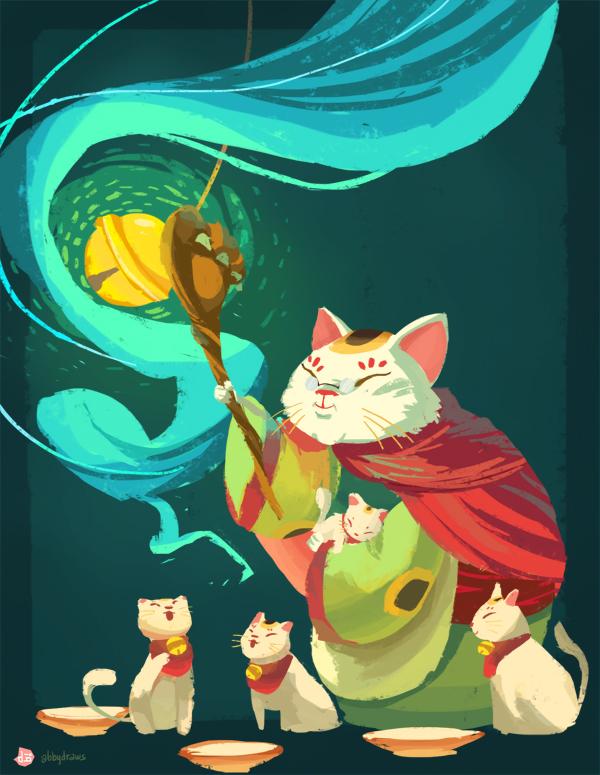 Cat Waving Paw Gif