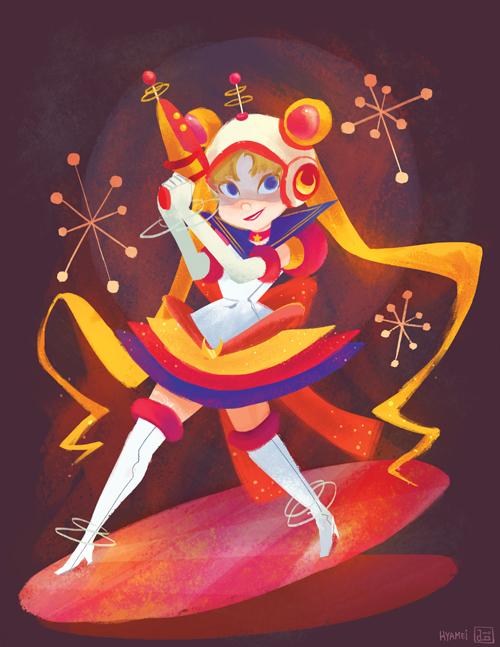 Retro Sailor Moon by hyamei