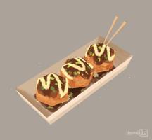 Takoyaki - 3D by hyamei