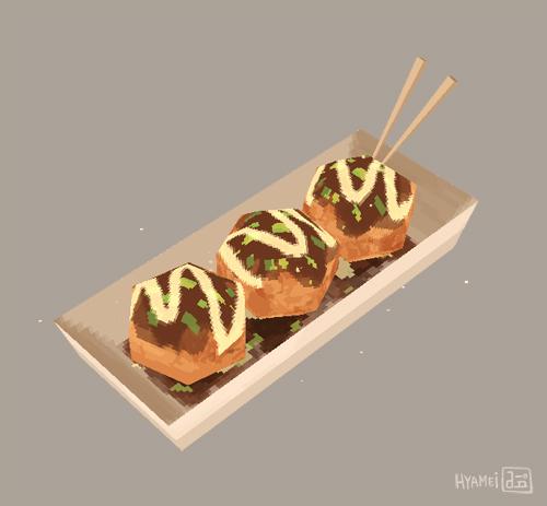 Takoyaki - 3D