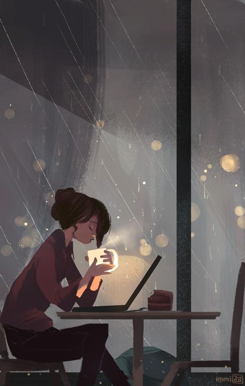 Rain by hyamei