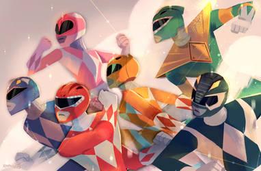 Power Rangers by hyamei