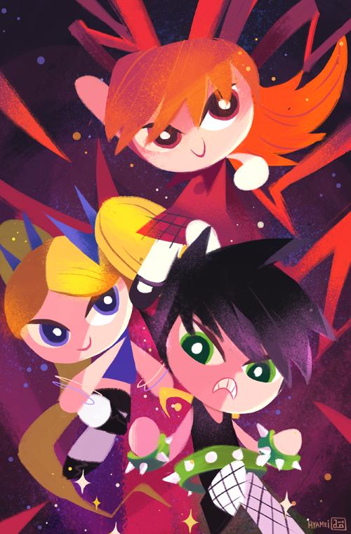 Powerpunk Girls by hyamei