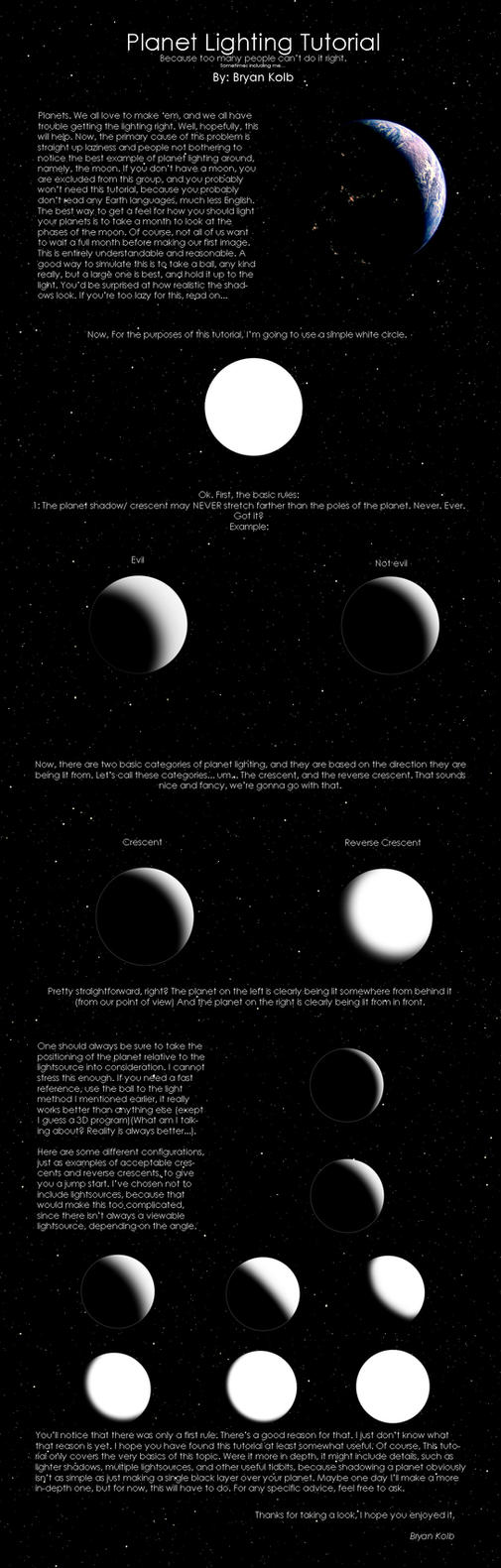 Planet Lighting Tutorial by bloknayrb