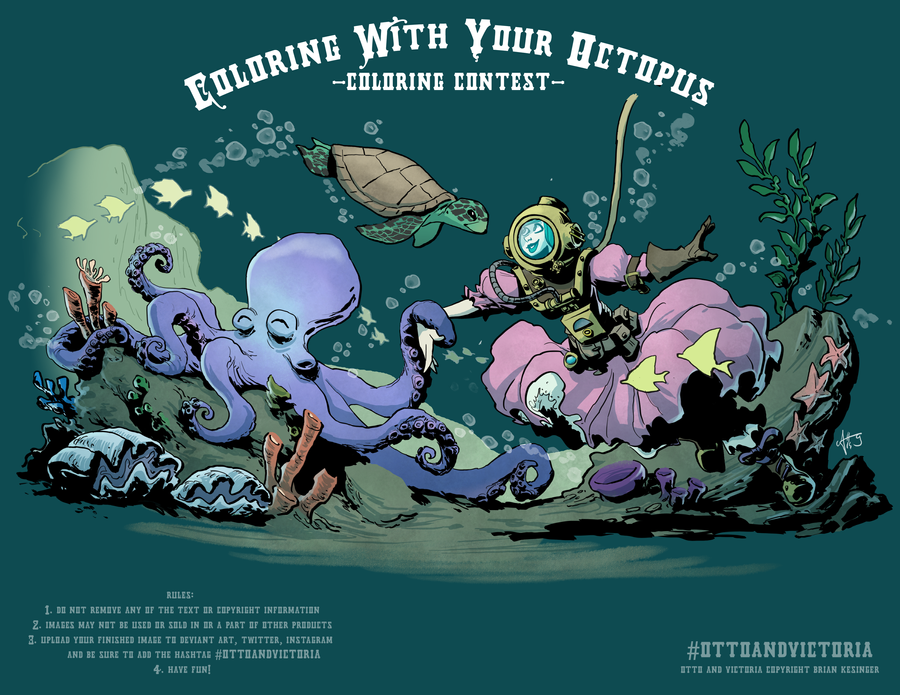 coloring with your octopus 01 by mercurio2539 on deviantart