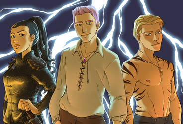 Lightning trio