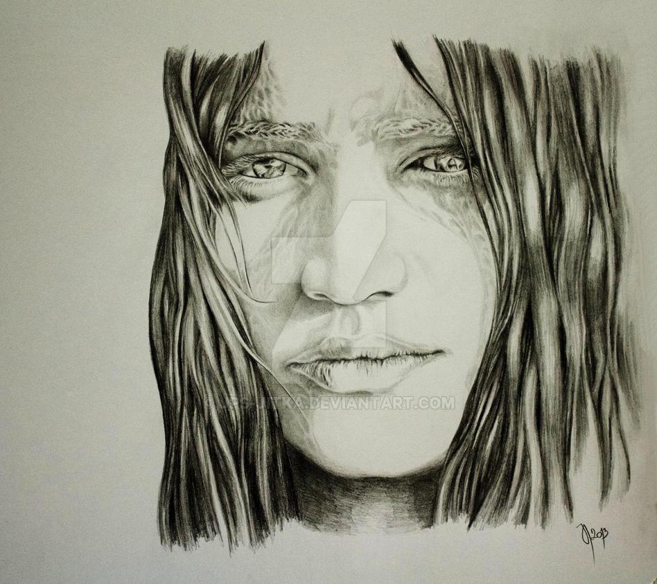 77-2 Adria, ilustrace, 2013, graphite, detail k 75 by JPS-Jitka