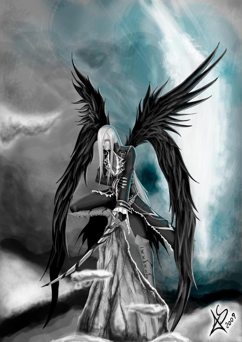 Dark essence by hikashy on deviantart - Dark angel anime wallpaper ...