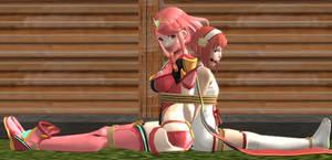 [Poll Result 2] Pyra And Sakura Tied Up