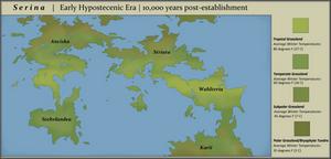 Serina World Map ~ 10,000 Years PE