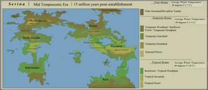 Serina World Map: 15 Million Years PE by Sheather888