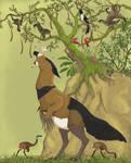 Birds of Serina 100 Million Years Hence