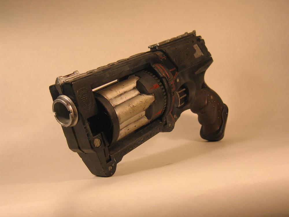 Ebony, A Dieselpunk gun frontL