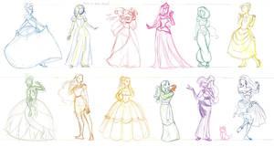 Disney Princesses and Whatnot